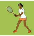 mulatto girl playing tennis vector image vector image