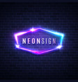 night club neon sign 3d retro light signage vector image vector image