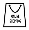 online shopping icon isolated on transparent vector image vector image