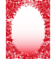 Oval frame with floral elements in pink hues vector image vector image