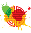 paint splash oriental design element vector image