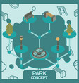 park color concept isometric icons vector image vector image