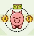 piggy bank money vector image vector image