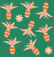 pineapple seamless pattern it is located in vector image