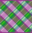 purple green color check fabric texture seamless vector image vector image