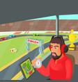 racing coach concept cartoon style vector image vector image
