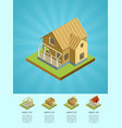 real estate engineering isometric 3d concept vector image