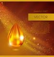 realistic oil or honey drop vector image vector image