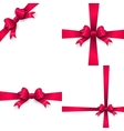 Red bow and red ribbon EPS 10 vector image vector image