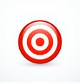 red target icon vector image