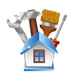 repairing a house symbol with a tool vector image vector image