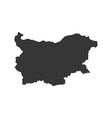Republic of Bulgaria map silhouette vector image vector image