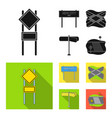 road signs and other web icon in black flat style vector image