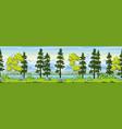rual summer landscape vector image vector image