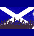 scotland flag with audience vector image