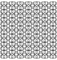 seamless elegant lined black and white pattern vector image