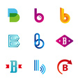 Set of letter B logo icons design template vector image vector image