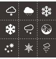 snow icon set vector image vector image