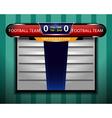 Soccer Scoreboard Information vector image vector image