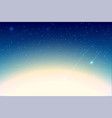 starfall blue night sky with star vector image