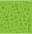 tea seamless background with thin line icons - vector image vector image