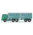 Truck with Trailer to Transport People vector image vector image