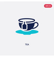 two color tea icon from beauty concept isolated vector image