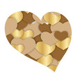 valentines day abstract heart shape background vector image