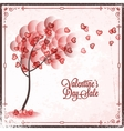Valentines Day Sale Vintage card Background vector image vector image