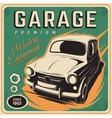 Vintage poster auto repair vector image vector image