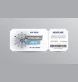 vip pass admission ticket for christmas party vector image vector image