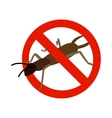 Warning sign with beetle icon isometric 3d style vector image vector image