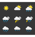 weather icons1 vector image