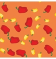 Yellow and red pepper seamless texture 608 vector image