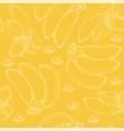 yellow seamlesspattern with banana vector image