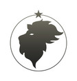zodiac sign leo vector image vector image