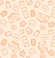 Bags and suitcases seamless pattern vector image