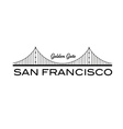 Golden Gate bridge of San Francisco vector image