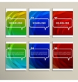 Set of banners for design in abstract style vector image