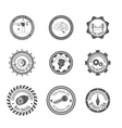 set of different gray icons vector image