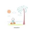 A man came to the beach vector image vector image
