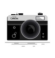 abstract retro photo camera isolated on white vector image vector image