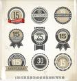 Anniversary retro labels vector image vector image