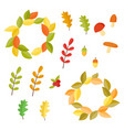 autumn set collection with autumn signs vector image vector image