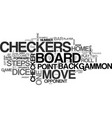 backgammon rules learn how to play backgammon vector image vector image