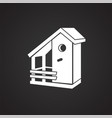 bird house on black background vector image vector image