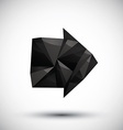 Black arrow geometric icon made in 3d modern style vector image