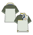 block polo shirt with contrasting details vector image