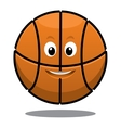 Bouncing happy brown basketball ball vector image vector image