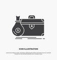 briefcase business case open portfolio icon glyph vector image
